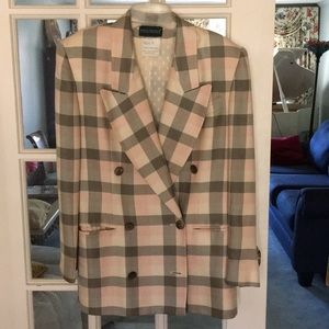 Ladies double breasted skirt suit